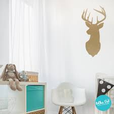 Deer Head Wall Decals Apartment Safe 60 Colors To Choose From Polka Dot Wall Stickers
