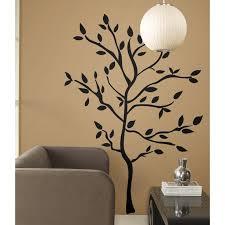 Giant Tree Branches Big Mural Wall Stickers Black Leaves Room Decor Vinyl Decals Rm1 Walmart Com Walmart Com