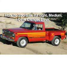 Fsj Jeep Part 7980hchos Orange Decal Set 1979 1980 Jeep J10 Honcho Sportside Truck Orange Stripe Kit 4 Color
