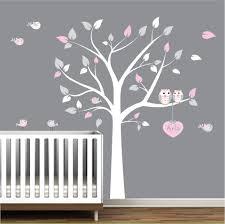 Tree Wall Decal Huge Tree Wall Decal Wall Mural Stickers Nursery Tree And Birds Wall Art Heart With Custom Name E04 In 2020 Nursery Wall Decals Tree Vinyl Tree Wall Decal Nursery