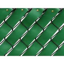 Pexco 250 Ft Fence Weave Roll In Green Fw250 Green The Home Depot Fence Weaving Wooden Fence Vinyl Fence