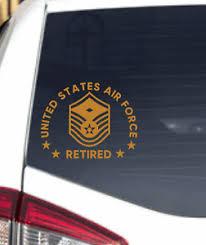Us Air Force First Sergeant Retired Airman Decal Usaf Sticker Car Truck Window Ebay
