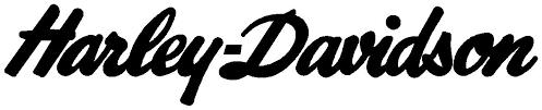 Harley Davidson Cursive Decals