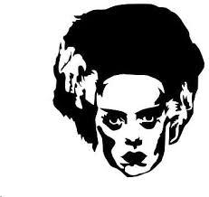 Amazon Com Cliffbennett Bride Of Frankenstein Decal Halloween Vinyl Sticker Bride Decal Halloween Decor Bride Of Frankenstein Decor Home Kitchen