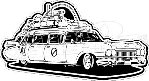 Ghostbusters Movie Ectomobile Car Decal Sticker Decalmonster Com