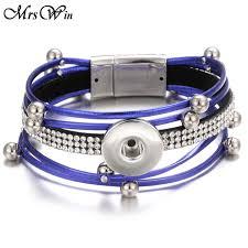 leather snap on bracelet bangles