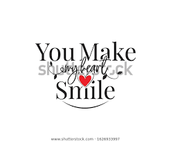 You Make My Heart Smile Vector Stock Vector Royalty Free 1626933997