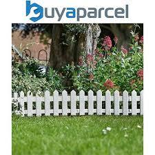 Decorative Fences Home Garden Store White Picket Fence Flower Bed Garden Edging Border For Grass Path Driveway Etc