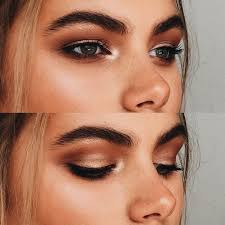 warm bronze smokey eye hair makeup