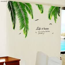 palm tree leaves wall sticker vinyl diy
