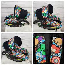 baby super hero infant car seat cover