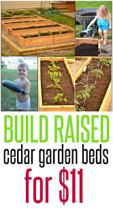Follow These Building Plans To Make A Raised Garden Bed On The Cheap Using Cedar Fence Posts Carol S Gard Raised Garden Building A Raised Garden Garden Beds