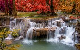 waterfalls wallpaper nature landscape