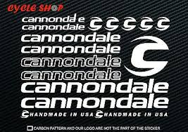 Cannondale Bike Decal Sticker Set Mtb Dh Cycling Road Night Ride Fenix