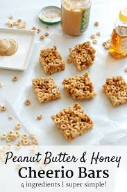 peanut er honey cheerio bars