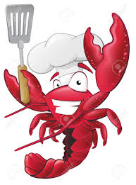 Happy Lobster Chef Holding A Spatula ...