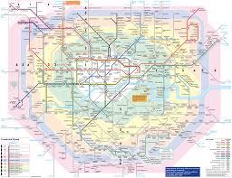 large detailed metro map of london city