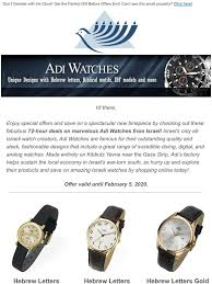 JudaicaWebStore.com: ⌚ The Clock is Ticking | 72-Hour SALE on Adi Watches |  Milled