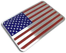 Amazon Com Riley Express American Us Flag Decal Sticker Emblem Made From Aluminum Alloy Perfect For Any Vehicle Truck Car Motorcycle Rv Scooter Or Suv 3 12 X 2 Automotive
