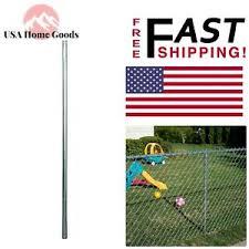 Galvanized Metal 2 38 X 2 38 X6ft Terminal Fence Post 16 Gauge Wire Chain Link 659099389420 Ebay