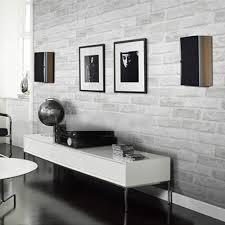 grey white brick pattern wallpaper