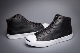 converse black leather jack purcell
