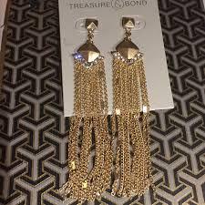 treasurebond chain chandelier earrings