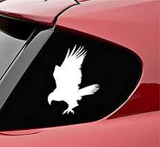 Amazon Com Slap Art Hawk Silhouette Vinyl Decal Sticker White Automotive
