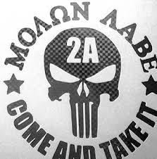 Vinyl Decal Molon Labe Threat Based Threads