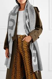 toronto intarsia wool blend scarf