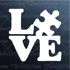 Autism Love Decal Autism Love Car Sticker Fast Shipping