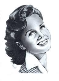 Debbie Reynolds Drawing by Adriana Holmes | Saatchi Art
