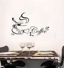 Amazon Com Bibitime Black Coffee Cup Sayings English Word Wall Vinyl Sticker Bedroom Art Mural Decals Quotes For Shop Bar Window Glass Door 22 44 X 13 77 Home Kitchen