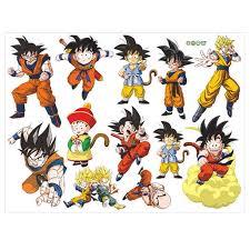 Leuchtend Dragon Ball Wall Decals Dragon Ball Z Decals For Walls Goku Super Saiyan Vinyl Wall Decal Stickers Goku Decal Man Boy Room Art Home Decor Walmart Com Walmart Com
