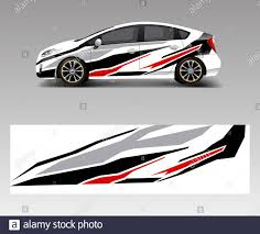 Car Wrap Decal Design Vector Graphic Abstract Racing Designs For Vehicle Rally Race Adventure Template Design Vector Stock Vector Image Art Alamy