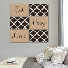 Eat Pray Love Canvas Set Wall Art Elephantstock