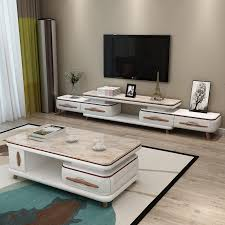 nordic marble tv cabinet coffee table