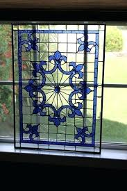 stained glass panels hanging window