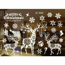 Sticker Window New Year Christmas Snow Dear Wall Decal Glass Decor Ebay