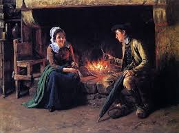 Henry Mosler The Chimney Corner 21 X28 Wall Decal Traditional Wall Decals By Art Megamart