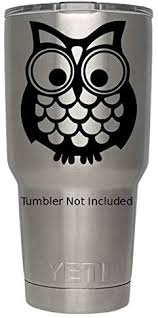 Amazon Com Classy Vinyl Creations Owl Decals B Created For Yeti Cups Mugs Cars Laptop Stickers Stickers 3 5 X 3 8 Black Home Kitchen
