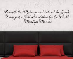 Beneath The Makeup Marilyn Monroe Wall Decal Quote J63 Printing Jay