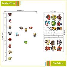 Avengers Height Measure Chart Wall Stickers For Kids Rooms Decals Art Children Room Decoration Poster Cartoon Boys Gift Home Decor Wall Decor