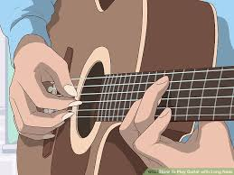 play guitar with long nails
