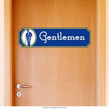 Gentlemen Rest Room Fancy Wall Decal At Retro Planet