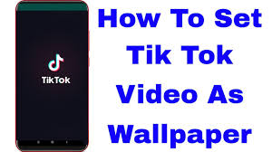 how to set tiktok video as wallpaper in