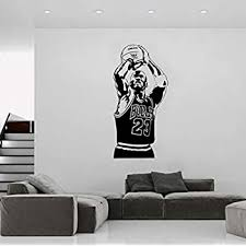 Amazon Com Basketball The Shoot 23 Michael Jordan Wallpaper Home Decoration Wall Sticker For Living Room Kids Room Decoration Murals Poster 58x120cm Kitchen Dining