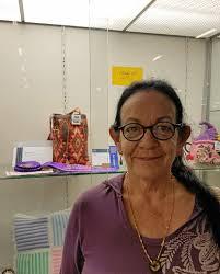 Dedication to craft bags a purple rosette for crochet   Gatton Star