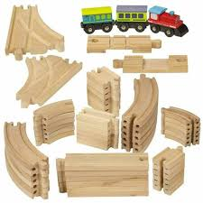 wooka wooden train set 80pcs railway