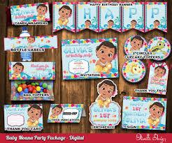 Moana Bebe Kit Imprimible Para Cumpleanos Princesa Moana Archivo